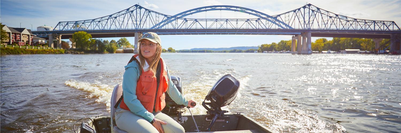 Student in Boat